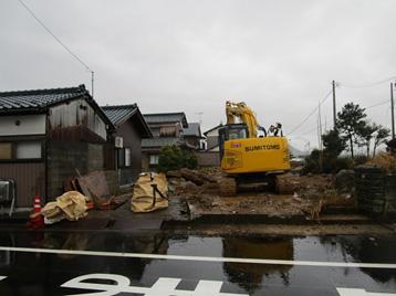 木造2階建て住宅解体